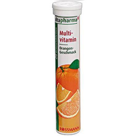 Image of Мультивітаміни Altapharma  Шипучие таблетки Altapharma Multivitamin это растворимая витаминная добавка к рациону с 10 важными витаминами (витамин С, ниацин (NE), витамин Е, пантотеновая кислота, рибофлавин, витамин B6, тиамин, фолиев