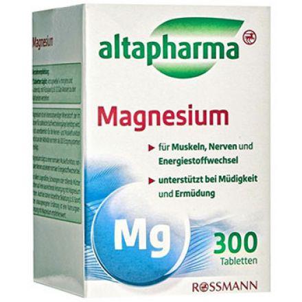 Image of Добавка магній Altapharma Таблетки Altapharma Magnesium Магний это качественная минеральная добавка в рацион, употребление которой нормализует нервную систему и улучшает энергетический метаболизм и мышечную активность. Особенно реком