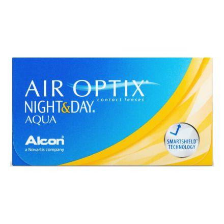 Image of  Внимание: в некоторых случаях линзы Air Optix Night & Day могут быть отгружены без картонной коробки (в блистерах).  Мягкие месячные линзы для непрерывного ношения (и днем, иночью), удо