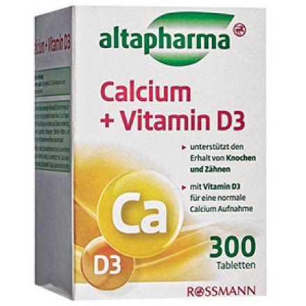 Image of Добавка Altapharma Calcium 1000+Vitamin D3 Таблетки Altapharma Calcium 1000 + Vitamin D3 это качественная добавка в рацион, содержащий необходимую дозу кальция, который легко усваиваются с помощью витамина Д3 и улучшает секрецию горм