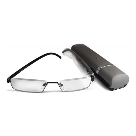 Готові окуляри для читання (металева оправа, в чохлі)