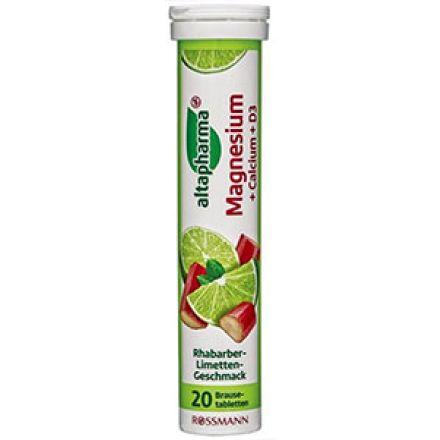 Image of Вітамін Altapharma Magnesium+Calcium+D3 Шипучие таблетки Altapharma Magnesium + Calcium + D3 это растворимаявитаминная добавка к рациону, содержащий минералы и витамин Д3 для лучшего функционирования всего организма, в том числе для