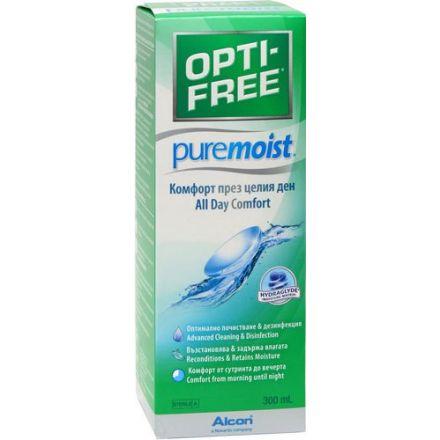 Image of  Раствор создан на основе увлажняющей базы HydraGlyde, котораяпредотвращает пересыхание роговицы и работает в течение 16 часов,поэтому OPTI-FREE PureMoist рекомендован для чувствительных итребовательных глаз.