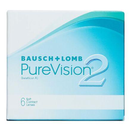 Image of  Силикон-гидрогелевые контактные линзыPureVision2 HDот производителяBausch&Lomb, рассчитанные на дневное и/или непрерывное ношение в течение одного месяца.