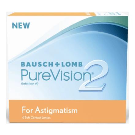 Image of PureVision2 for Astigmatism Силикон-гидрогелевые контактные линзы PureVision2 For Astigmatism от производителя Bausch & Lomb, рассчитанные на дневное и / или непрерывное ношение в течение одного месяца.