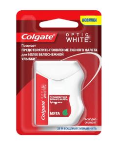 Зубная нить Colgate Optic White (отбеливающая)