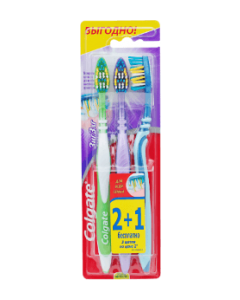 Зубная щетка Colgate Зиг Заг  (2+1)