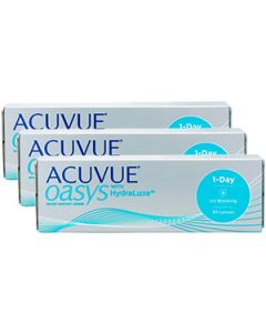 Купить Acuvue Oasys 1-Day with Hydraluxe Ауквью Оазис Гидралюкс