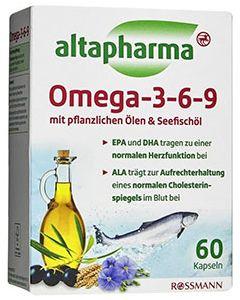Image of Добавка Altapharma Омега-3-6-9 Капсулы Altapharma OMEGA 3-6-9 являются прекрасно сбалансированным источником ненасыщенных жирных кислот, которые не вырабатываются организмом самостоятельно и должны поступать с пищей. Необходимы для н