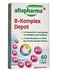Image of Добавка VITAMIN B KOMPLEX Depot Altapharma Таблетки Altapharma VITAMIN B KOMPLEX Depot это прекрасно сбалансированная пищевая добавка с витаминами В-группы. Они незаменимы для нормального функционирования всех систем огранизм