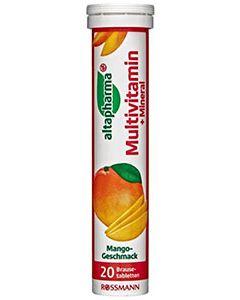 Image of Вітамін Multivitamin+Mineral Altapharma Шипучие таблетки Altapharma Multivitamin + Mineral это растворимаявитаминная добавка к рациону с 10 важными витаминами (витамин С, ниацин (NE), витамин Е, пантотеновая кислота, рибофлавин, вит