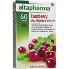 Image of Добавка Клюква + Витамин С + Селен Капсулы Altapharma Cranberry + Vitamin C + Selen это мощная добавка в рацион на основе экстракта клюквы, что способствует защите клеток от старения и поддержке функционирования иммунной системы, уме